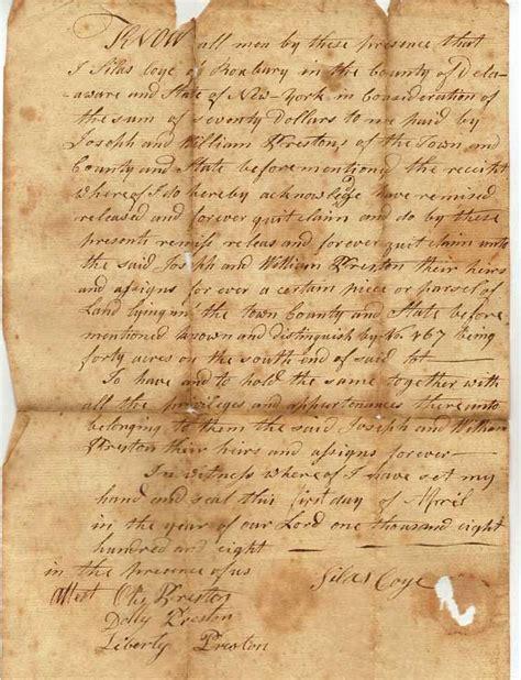 Preston Purchase 1808 - Delaware County NY Genealogy and ...