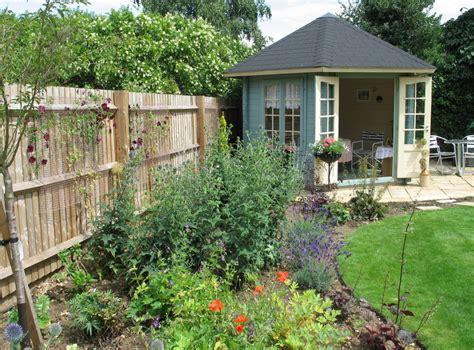 house border design border with summer house karen tizzard garden design