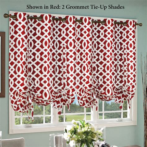tie up curtain shade trellis thermalogic tm grommet tie up shade
