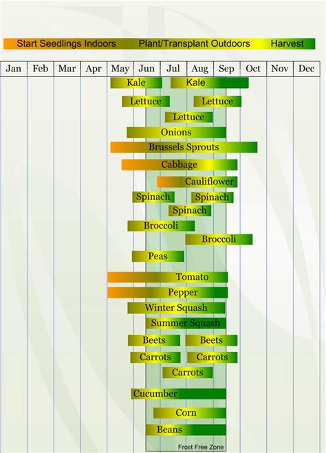 Vegetable Gardening Calendar Zone 4 Vegetable Planting Calendar Describing Approximate