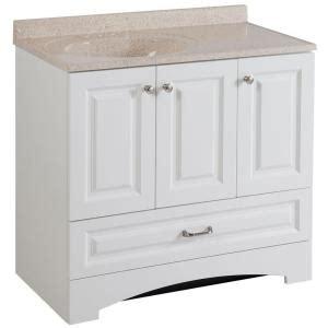 glacier bay bathroom vanity glacier bay lancaster 36 in vanity in white with