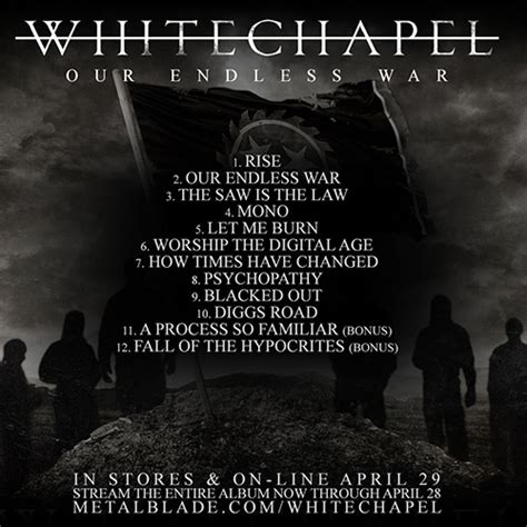 Mono A Place Lyrics Whitechapel Our Endless War Album Available Metal Blade Records
