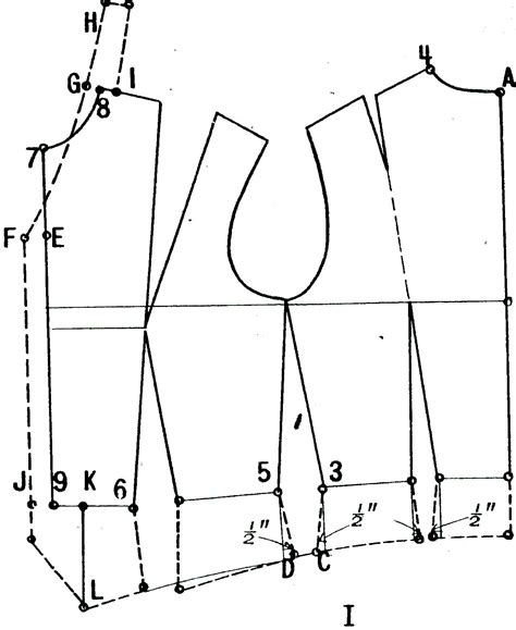 pattern design for clothes designing from a woman bodice pattern