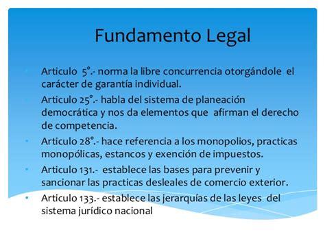 inclusive el artculo previene la exencin de impuestos a los guia de diapositivas de marco juridico de competencia