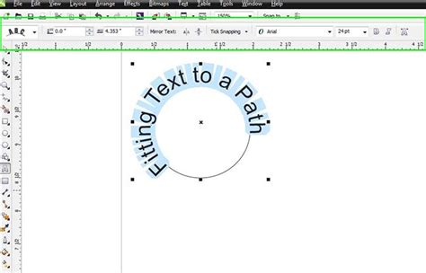 how to curve text in coreldraw x5 placing text on a path in coreldraw