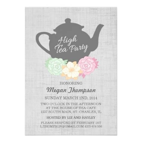 kitchen tea invites ideas unique party invitations latest tea party