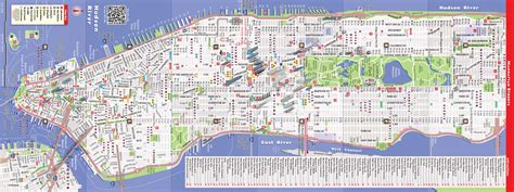 downtown new york city map nyc map by vandam nyc downtown streetsmart map city