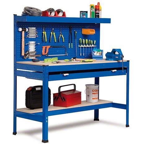 bancos de trabajos para taller banco de trabajo con panel herramientas y caj 243 n largo