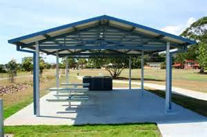 Steel Canopy Structure by Shade Structures By Steel Post And Rail