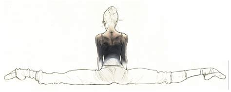 Drawing Of A Doing The Splits by Balancing Pointe 135 Ask Megan In The Hip Flexors