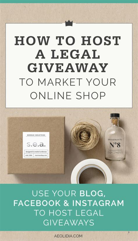 How To Do An Online Giveaway - how to host a legal giveaway to market your online shop aeolidia