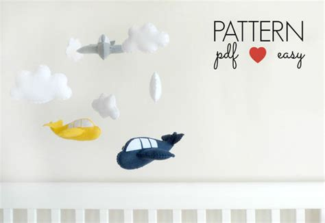 download pattern for mobile felt airplane sewing pattern easy sewing pattern boys