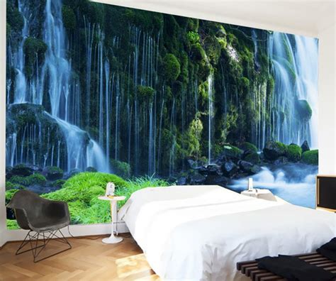 waterfall landscape mural wallpaper scenery