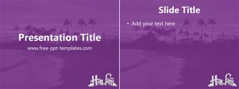 hawaii ppt template free powerpoint templates