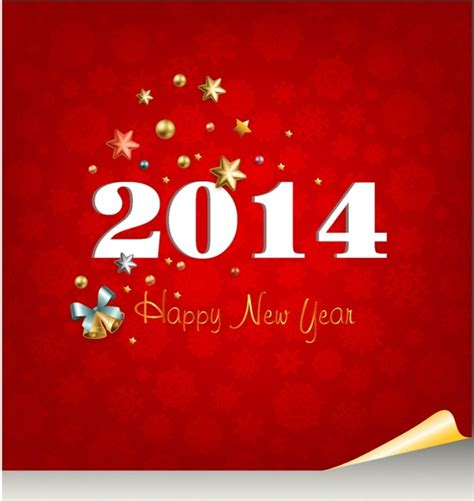 2014 new year greetings free vector in adobe illustrator