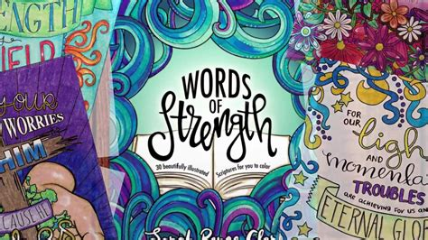color of strength words of strength 30 scriptures to color
