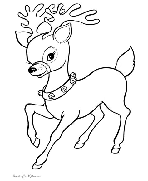 6 christmas reindeer coloring pages for kids