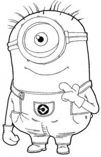 8 images minion eyes coloring pages