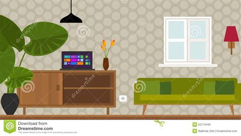 home interior vector living room home interior vector illustration stock vector image 52774440