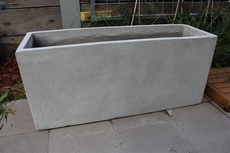 concrete planter garden pots batch of 6 x 110cm long ultra lite weight
