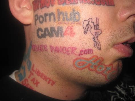 private dancer tattooed on my face tattoo picture at