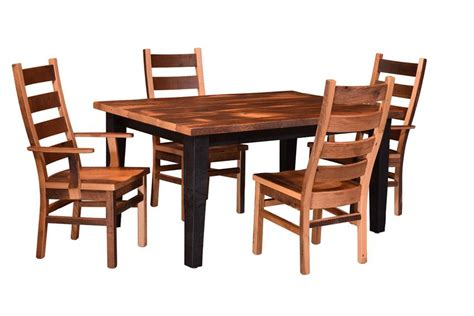 Two Tone Wood Dining Table Two Tone Amish Reclaimed Wood Dining Table