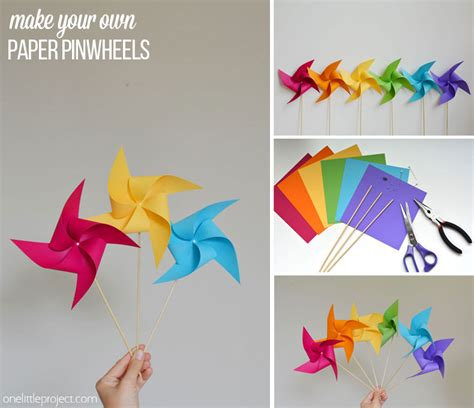 How To Make A Paper Pinwheel That Spins - how to make a pinwheel
