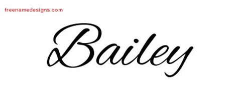 bailey archives free name designs