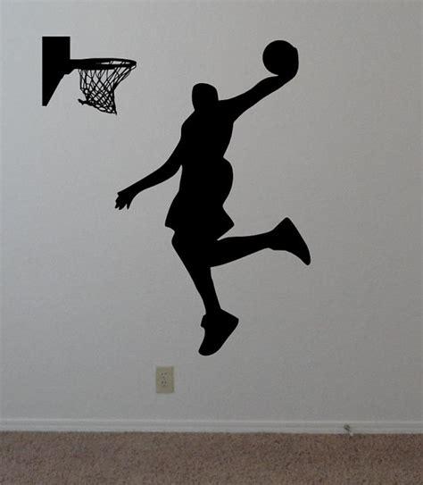 Custom Vinyl Wall Murals basketball wall decal jump slam dunk shot by onedesignart