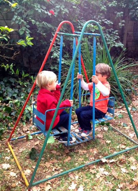 kids swing frame swings a frame two seater children s swing was sold for
