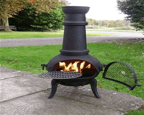 Chiminea And Bbq Houseandhomeshop Co Uk Large 120cm Oxford Black Cast Iron