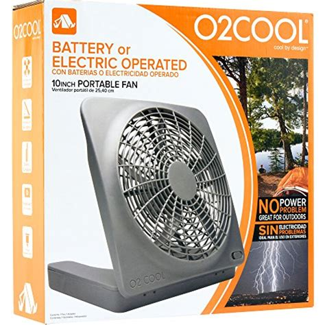 10 battery operated fan o2cool 174 10 inch portable fan with ac adapter the cing
