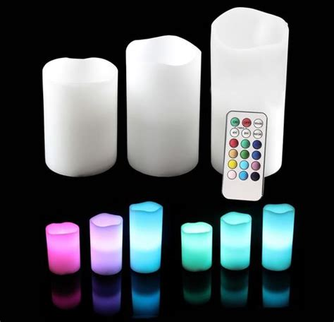 Free Led Candles 3 Pcs With Remote brand new led flameless candles with remote timer 3 pc set on luulla