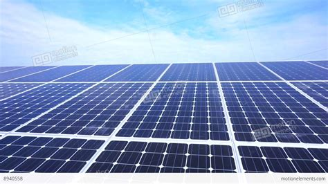 solar panels on roof moving clouds solar panels roof stock footage