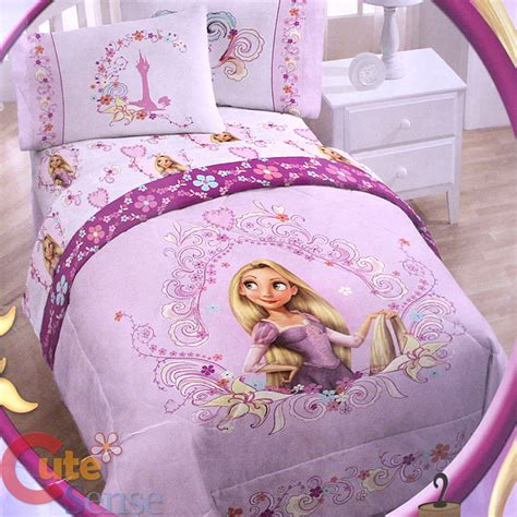rapunzel twin bedding disney princess tangled rapunzel 4pc bedding comforter set with sheet set ebay