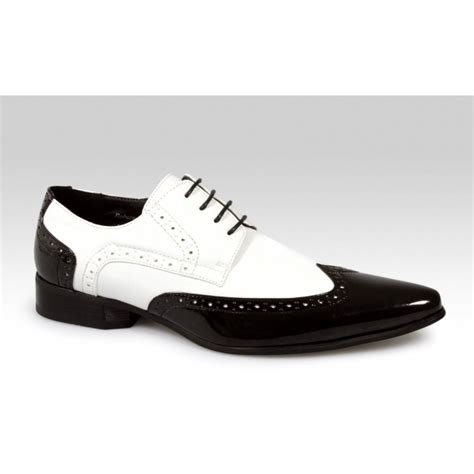 mens brogue pointed patent shiny gangster jazz spats dress