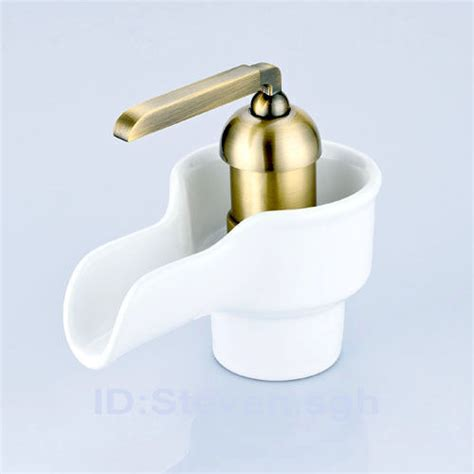 white bathroom faucets single lavatory faucet white porcelain bathroom faucet 0240g ebay