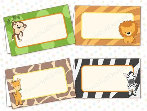 printable jungle labels editable safari baby shower food labels instant download