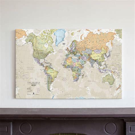 classic map   world canvas print  maps