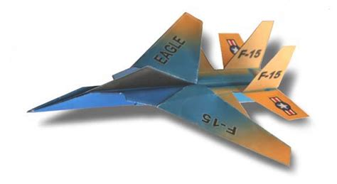 How To Make A Eagle Paper Airplane - folding f 15 eagle