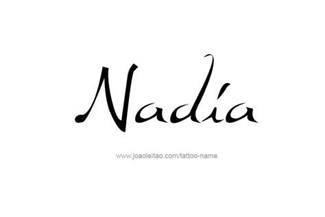 nadia name tattoo designs