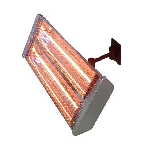 AZ Patio Heaters 1,500 Watt Infrared Double Electric Wall Mount Electric Patio Heater HIL 1531