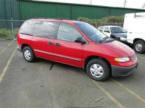 best auto repair manual 1999 plymouth voyager seat position control buy used 1999 plymouth voyager base 7 passenger van nice in salem oregon united states