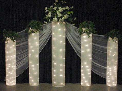 wedding decorations on church wedding - Wedding Backdrop Ideas With Columns