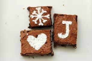 sweet treats stenciled brownies vanilla