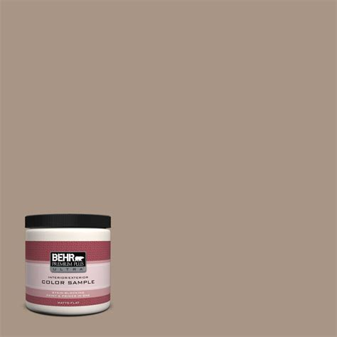 behr premium plus ultra 8 oz ul170 19 nile sand interior exterior paint sle ul170 19 the