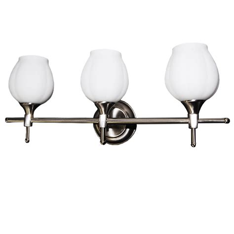 Wall Mount Vanity Light Fixtures by 3 Light Satin Chrome Finish Vanity Fixture Wall Mounted