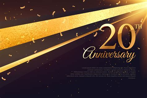 20th anniversary celebration card template   Download Free