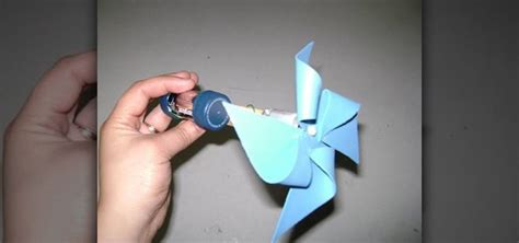 How To Make A Paper Pinwheel That Spins - how to make a battery operated paper pinwheel that spins