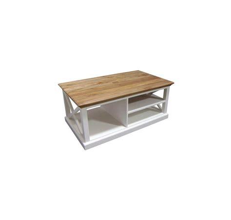 table en bois et banc table basse bois blanc et teck leirfjord
